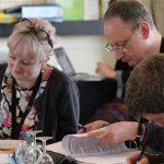 Laura, Bill and Matt at an NAFS session.