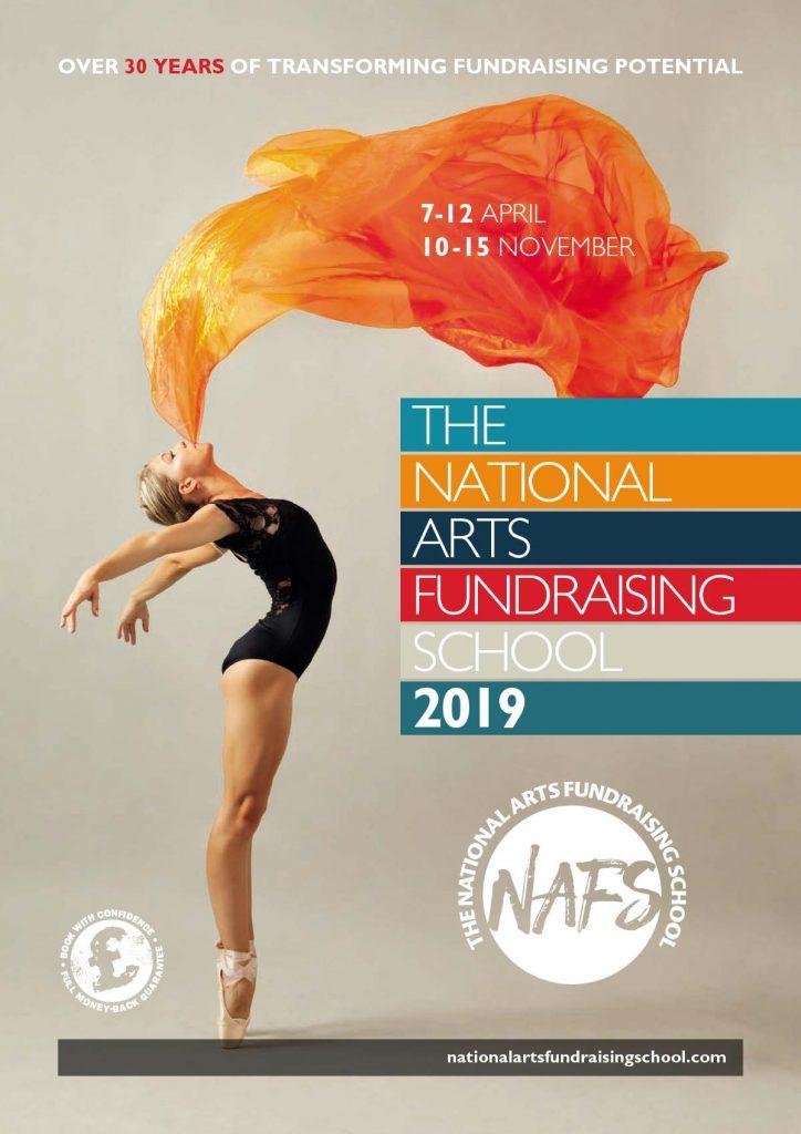 National Arts Fundraising School | 2019 Brochure (cover)