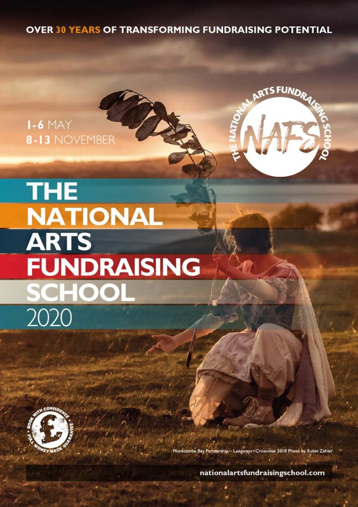 National Arts Fundraising School | 2020 Brochure (cover)