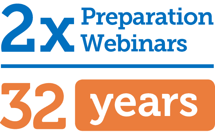 2x Preparation Webinars, 32 years